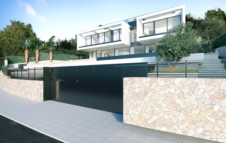 Nybyggd villa i Cas Catala